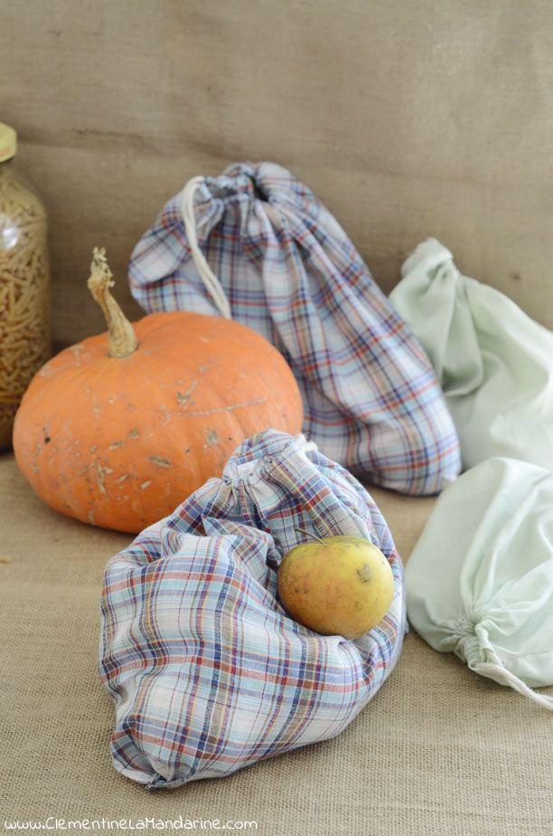 DIY : sacs à vrac pour les courses zéro déchet | Clémentine la Mandarine