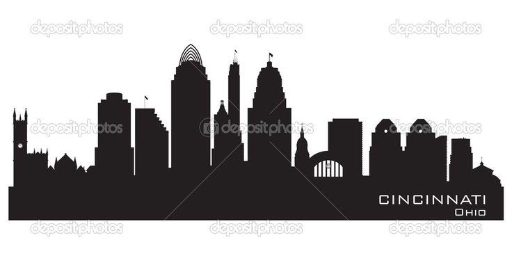 cincinnati skyline outline - Google Search