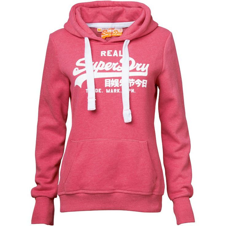 Superdry Womens Vintage Logo Hoody Rose Red Marl
