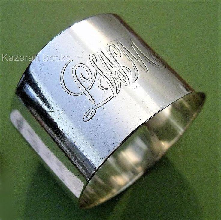 Antique Victorian Solid Silver Glasgow Hallmarked Napkin Ring 1899 G Edward &Sns