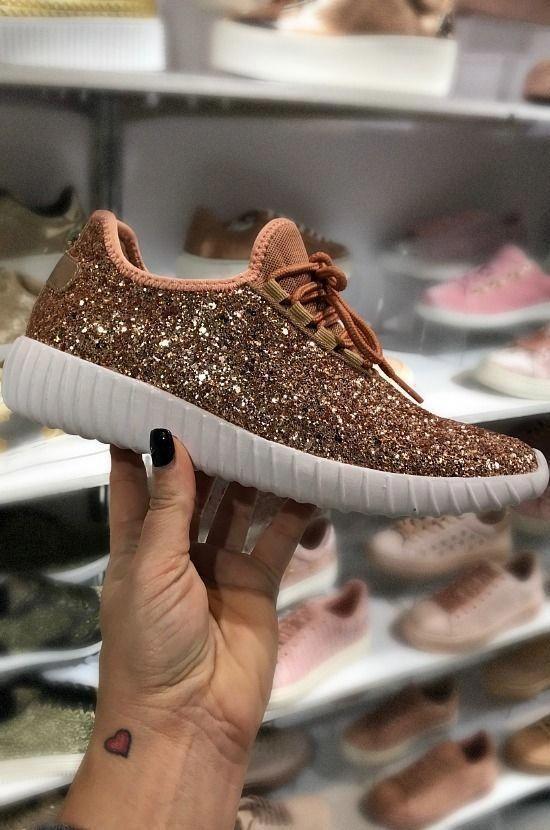 803dd510872c0 Glitter Bomb Sneakers - Rose Gold (Runs Small) in 2019 | Glitter ...