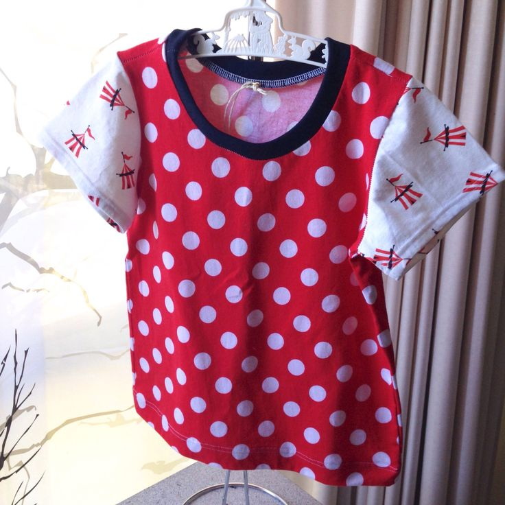 A personal favourite from my Etsy shop https://www.etsy.com/au/listing/500573102/girls-red-spot-tshirt-with-carnival-tent