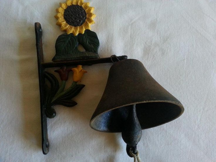 Vintage Cast Iron Door Bell Wall Mounted
