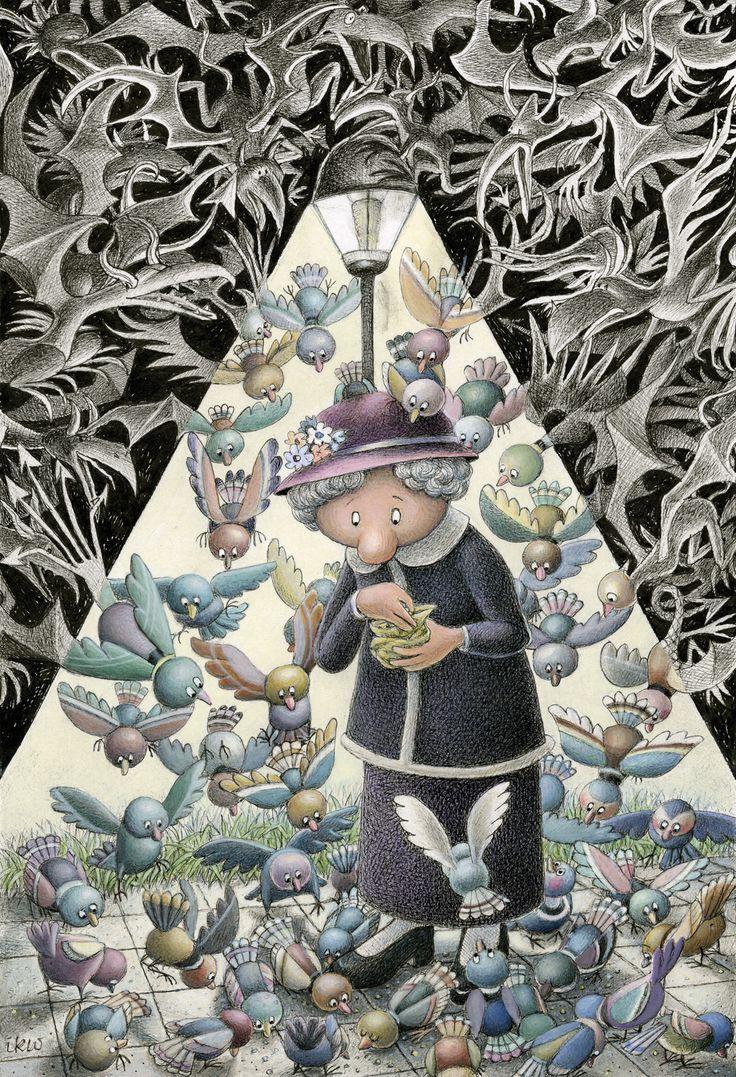 "2.º Prémio XVII PortoCartoon-World Festival Izabela Kowalska-Wieczorek, Polónia   ""Safe Light"" (""Luz Protetora"")"