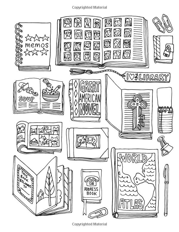 Off the Bookshelf Coloring Book: 45+ Weirdly Wonderful Designs to Color for Fun & Relaxation: Samarra Khaja