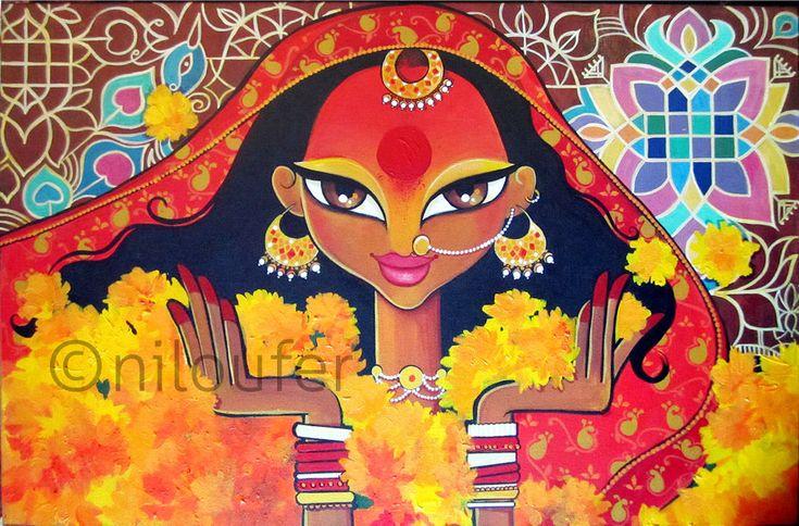 Durga. From 2009 to 2013 | Niloufer - Illustration. Art. Art ...