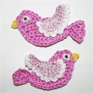Image detail for -Pattern- Crochet Bird Applique PDF - by CrochetAppliquePatterns on ...