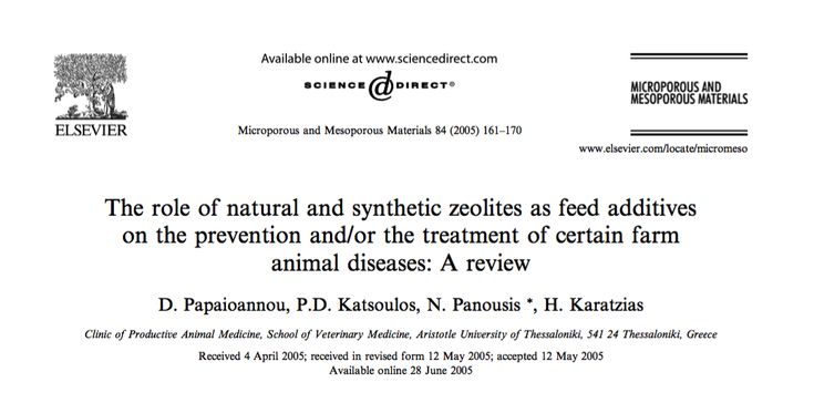 The present review comments on the role of the use of zeolites as feed additives on the prevention and/or the treatment of certain farm animal diseases.