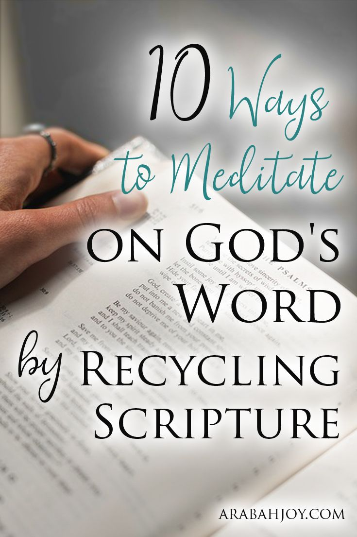 Are you struggling with the daily aspects of motherhood and feeling like you don't have time for God's Word? Here are 10 ways busy moms can meditate on the Word.