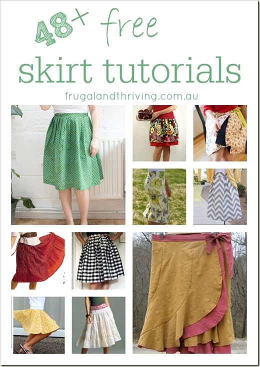 If you're wanting to start sewing clothes, then a skirt is a nice and easy garment to start with. Here is a list of skirt tutorials that cover a range of styles, sewing techniques, difficulty levels and funky inspiration ideas.