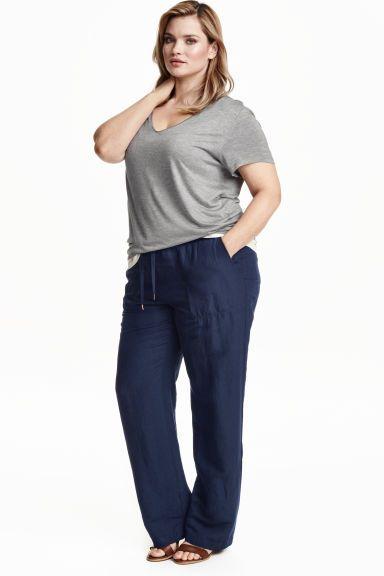 H&M+ Lenkeverék nadrág | H&M