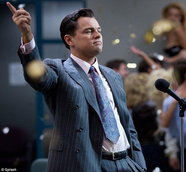 Leonardo DiCaprio playing the corrupt stockbroker Jordan Belfort in Martin Scorsese's upcoming film The Wolf Of Wall Street. via dailymail.co.uk