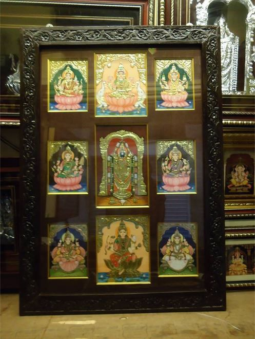 Pooja Room Designs Tanjore Paintings