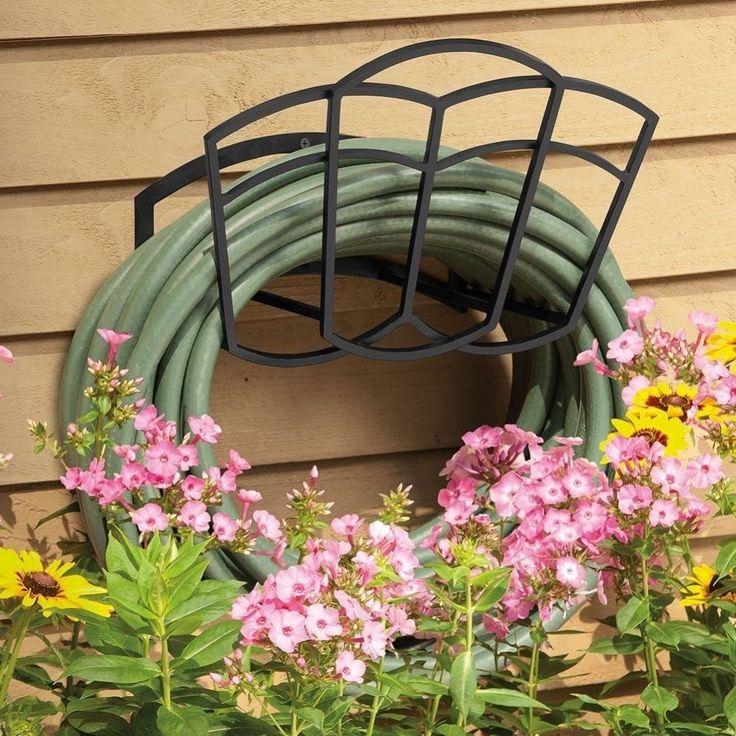 Garden Hose Hanger Outdoor Patio Metal Wall Mounted 150 Ft Water Hoses  Holder