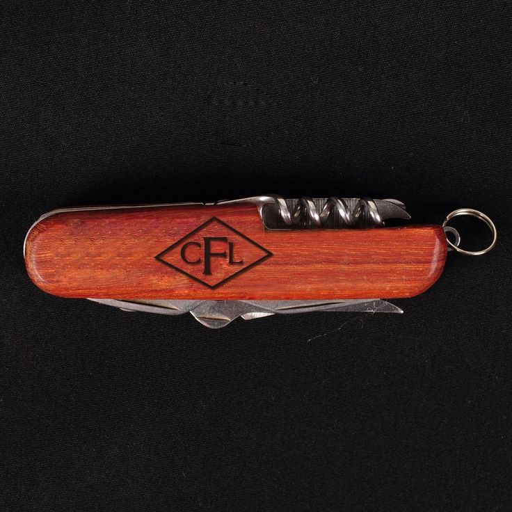 Monogram Engraved Pocket Knife with Wood Handle Small Pocket Knife with Stainless Steel Function Multi Tool Knife Personalized Gift for a Wedding Customize Gifts for Her