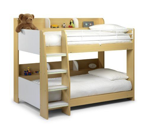 Julian Bowen Domino Single Bunk Bed, White/Maple, http://www.amazon.co.uk/dp/B008TOXZO2/ref=cm_sw_r_pi_awdl_P0Z7vb1HVSVM4