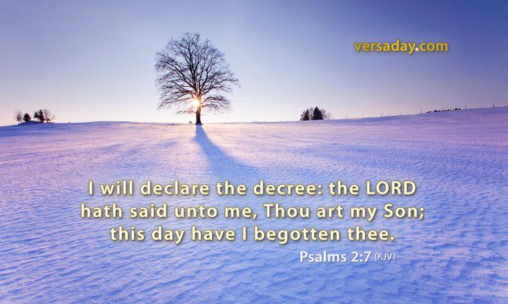 Psalms 2:7 - Verse for December 26
