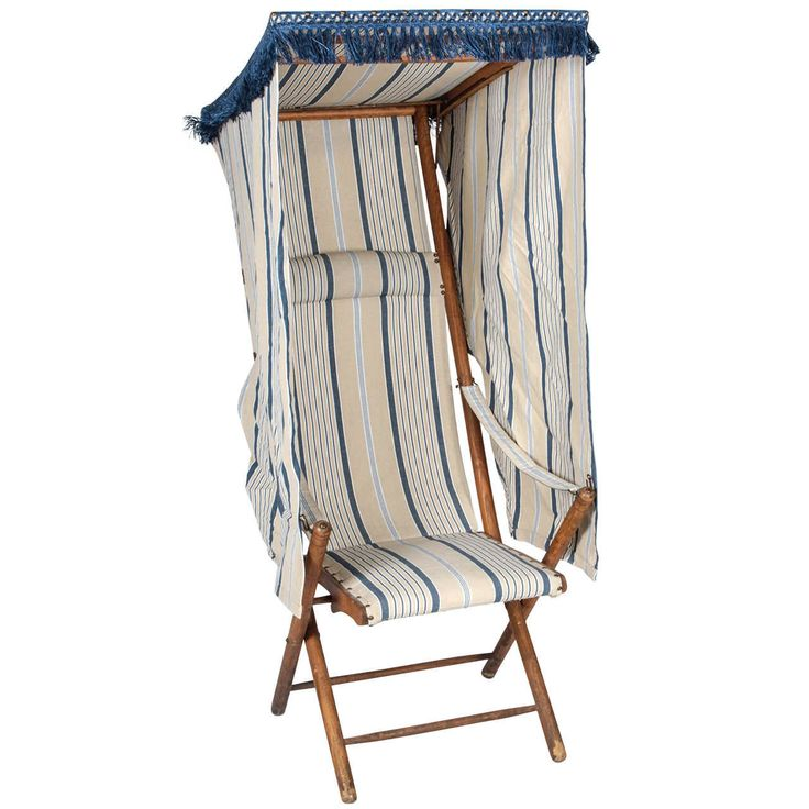 French Beach Chair with Canopy | From a unique collection of antique and modern chairs at https://www.1stdibs.com/furniture/seating/chairs/