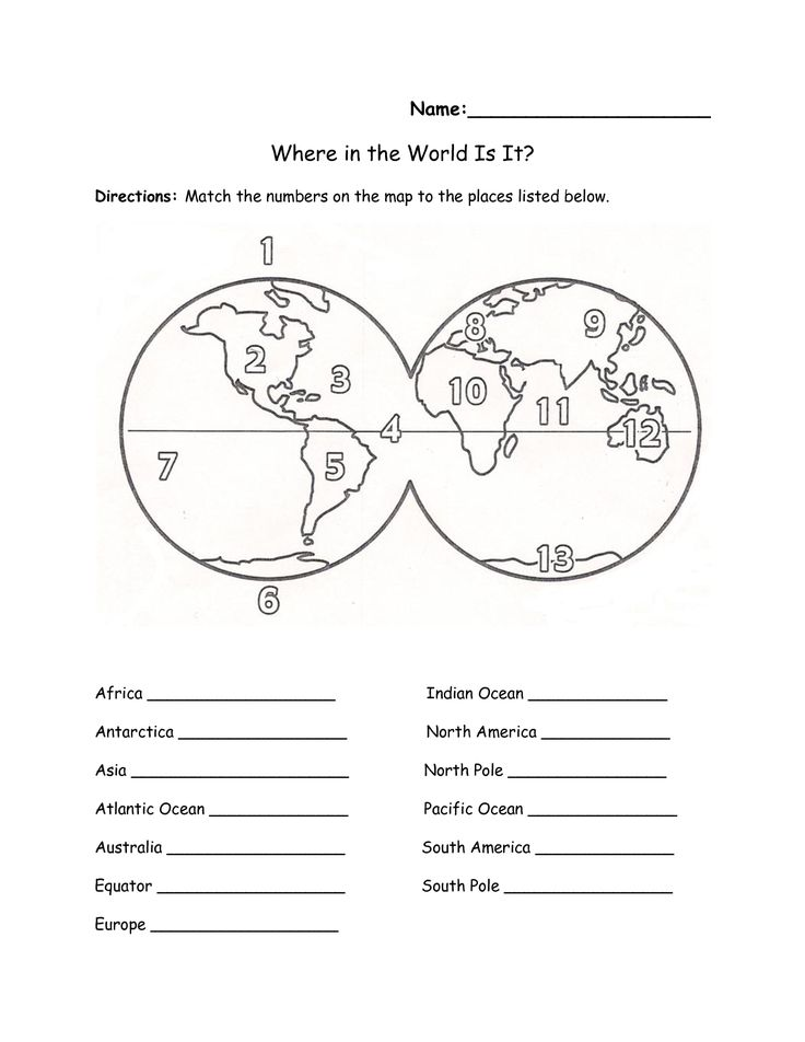 This is a photo of Astounding Free Printable Continents and Oceans Quiz