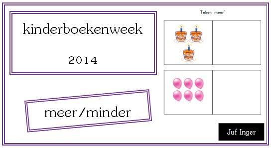 kinderboekenweek 2014 - meer/minder - Juf Inger