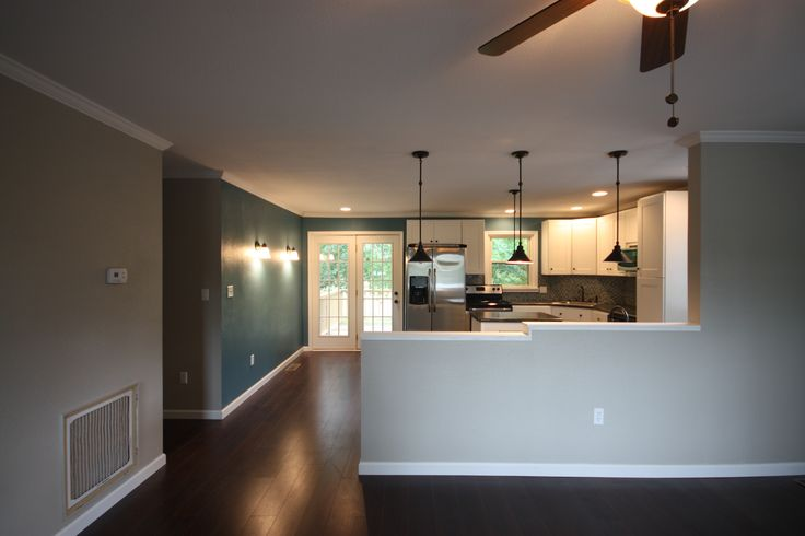 Half wall between kitchen and family room maybe one day - Kitchen and living room divider ...