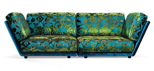 Rich Velvet Furniture Sets : Sectional Sofas
