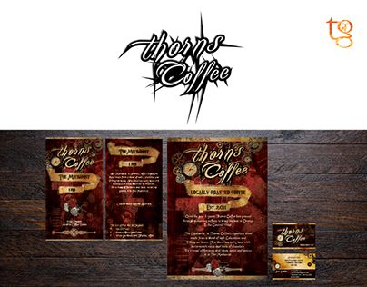"""Check out new work on my @Behance portfolio: """"Thorns Coffee Identity"""" http://on.be.net/1O0b2Qq"""