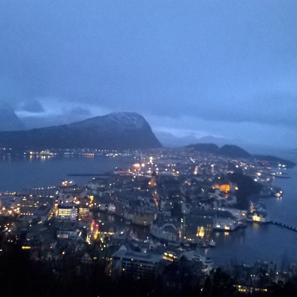 Taken at Aksla The city mountain in Aalesund. With a fantastic view over The city of Aalesund.
