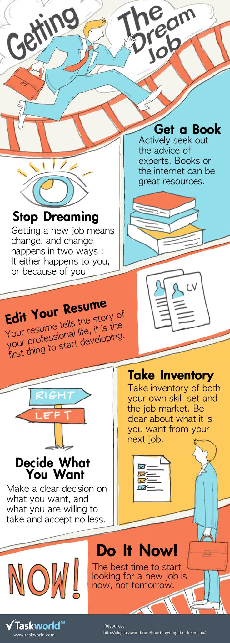 Getting The Dream Job Infographic - http://elearninginfographics.com/getting-dream-job-infographic/