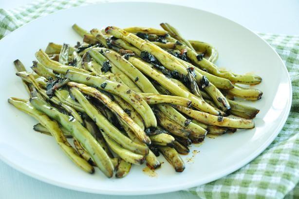 fagiolini speziati - zenzero aglio e salsa di soia