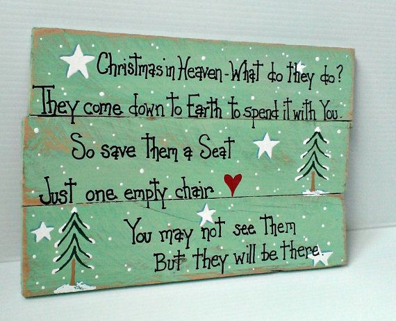 Handmade wood sign Christmas in Heaven by MorningStarWoodSigns