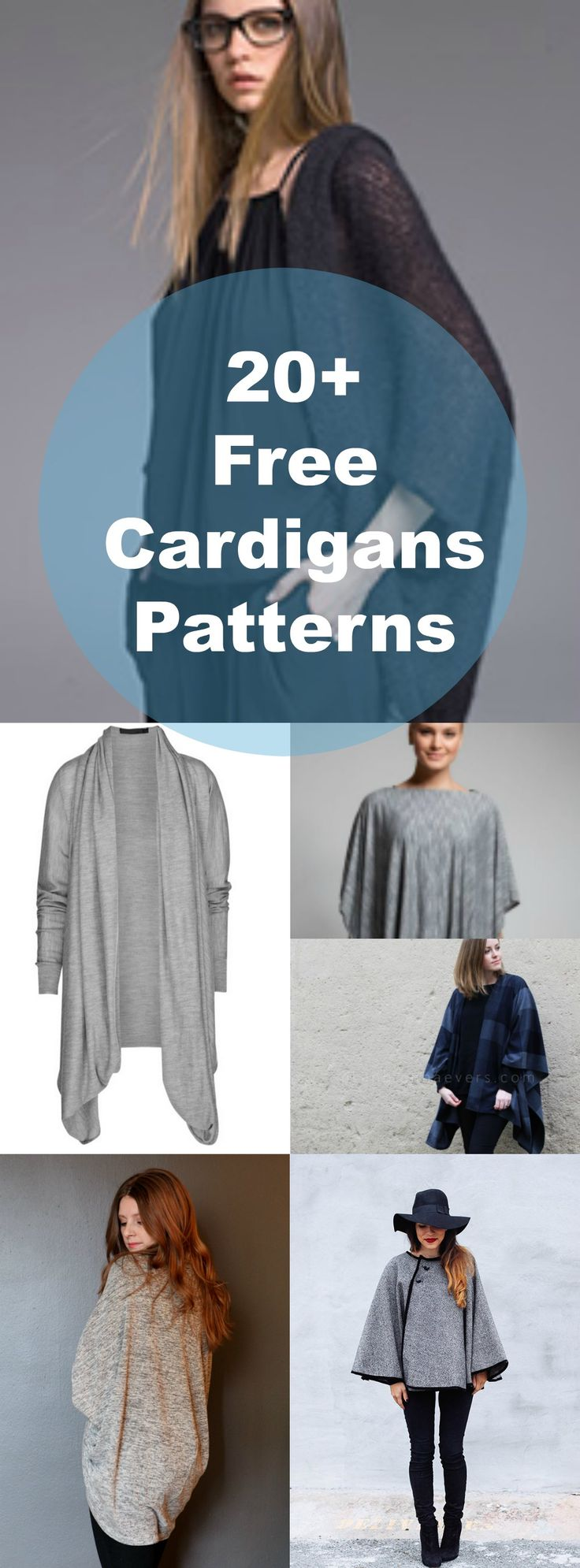20+ Free Patterns for Cardigans and Sweaters | Free Sewing Patterns and Tutorials: