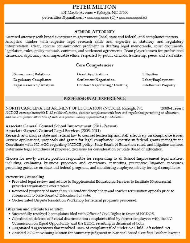 In House Counsel Resume Beautiful 7 Litigation Attorney Resume