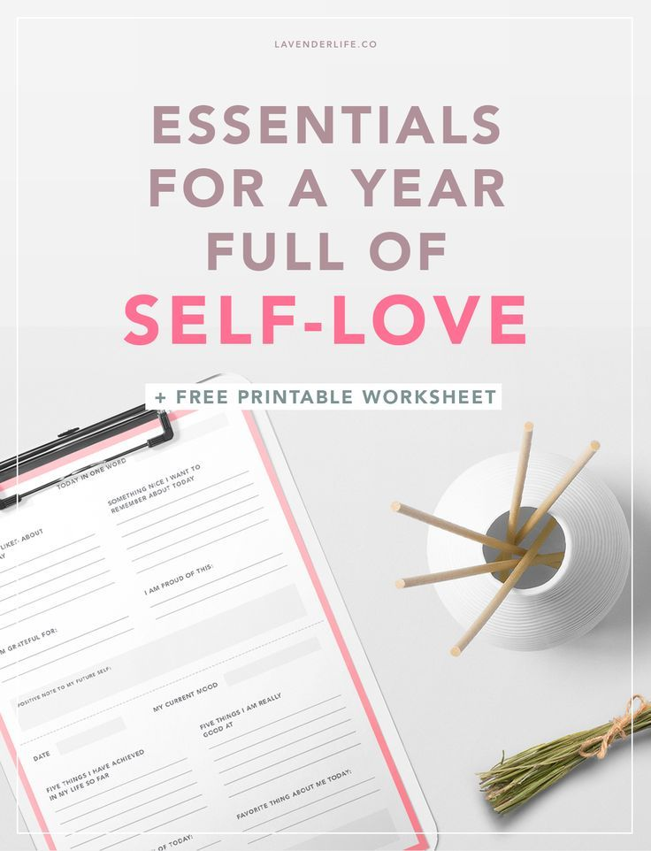These are the essential must-have tools for a year filled with self-love and positivity (+ FREE printable worksheet inside). Learn how to love yourself and become a happier person in the upcoming year, with this post about self-love, including a free printable self-love journal.