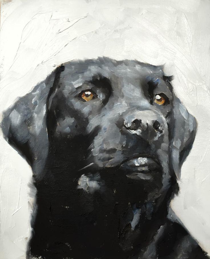 Black labrador art print black lab canvas wall art
