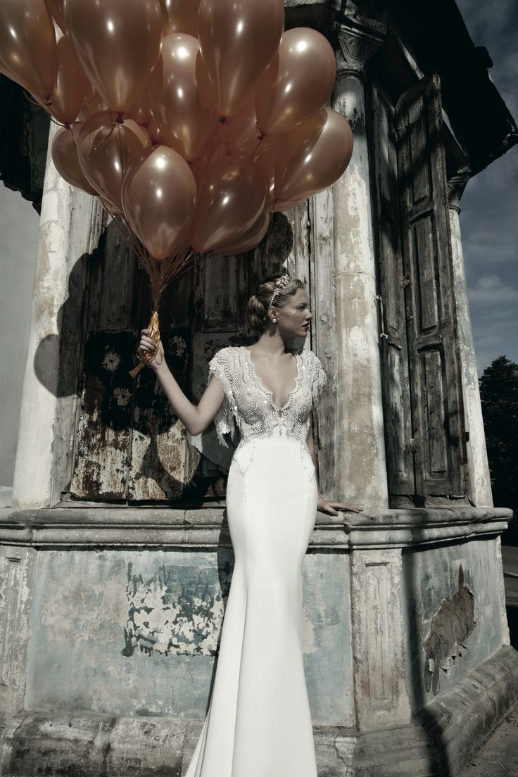 Pearl Wedding Dress by Galia Lahav | Art Deco Wedding Gown | 1920s Wedding Dress