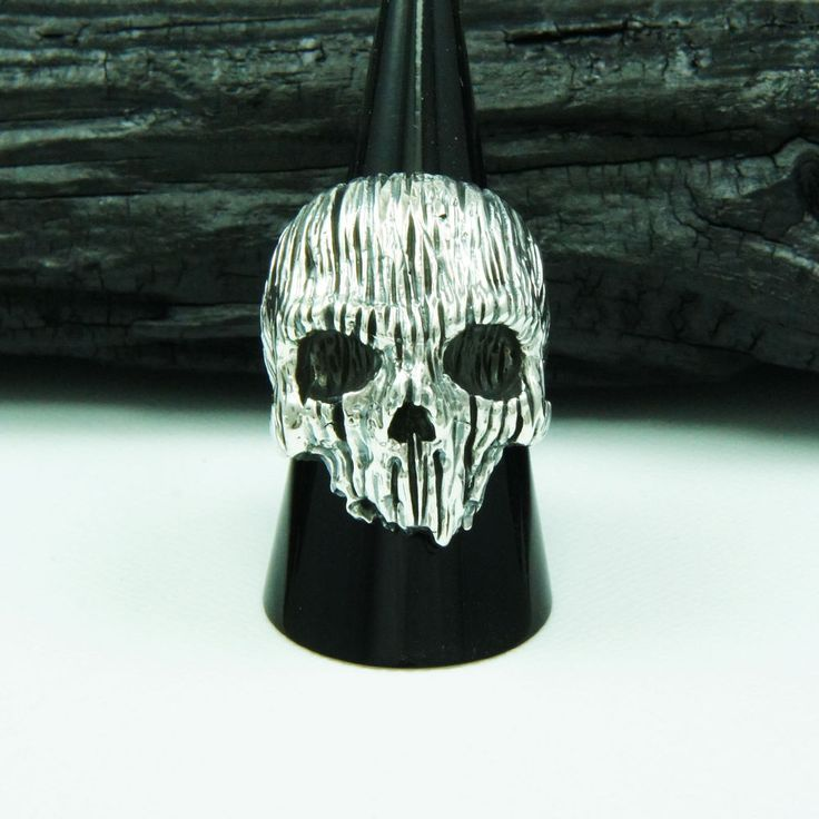 HORROR GOTHIC SKULL 925 STERLING SILVER US Size 13 BIKER ROCKER RING cs-r005 #Handmade