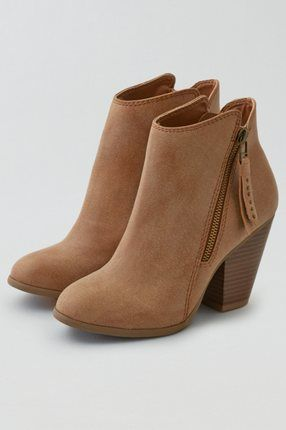 AEO Studded Heeled Bootie , Black | American Eagle Outfitters
