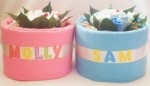 Personalised Nappy Cakes! YUM!