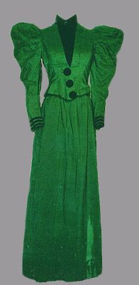 Emerald Green Suit, 1894-1896, United States via San Diego History Center