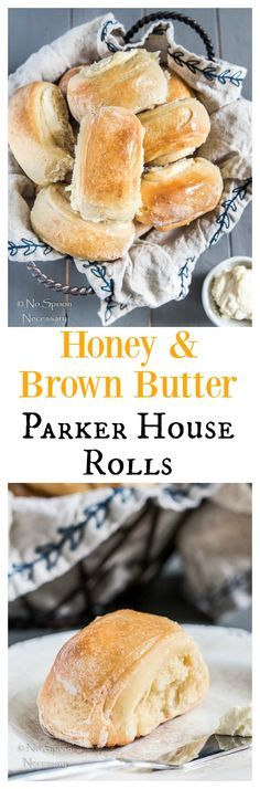 Honey & Brown Butter Parker House Rolls.  Look Like A Rock Star On Thanksgiving and Add Homemade Rolls to Your Table!  Easy & Can Be Made In Advance!