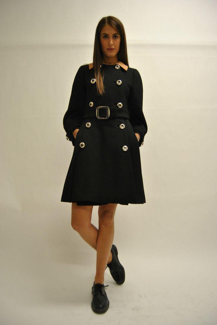 Cappotto da donna con doppio petto e bottoni in argento. Prada   eBay