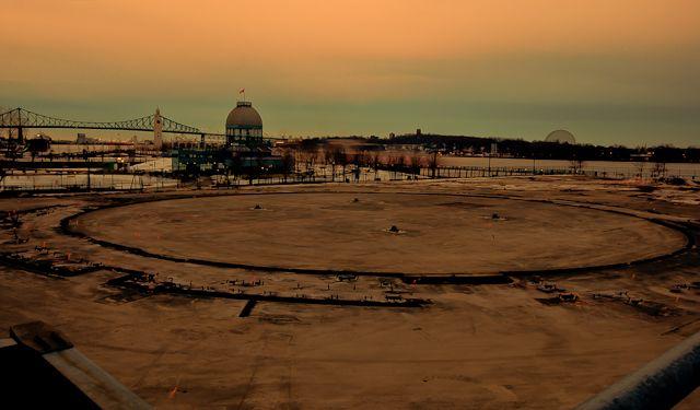 Cirque du Soleil ground preparation for Amaluna