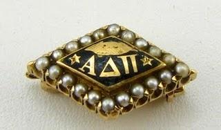 1916 Alpha Delta Pi, 20 Pearls, Yellow Gold