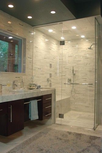 No on the colors but layout of shower would work an still leave room for shelves to the right for storage
