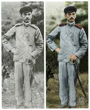 Manuel L. Quezon in the uniform of a Major in the Philippine Army