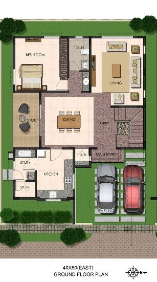 Charmant Duplex Floor Plans | Indian Duplex House Design | Duplex House Map