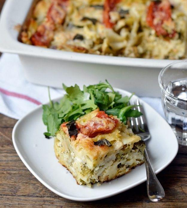 Tomato, Broccoli, Chickpea & Mozzarella Casserole | 21 Tasty Vegetarian Casseroles