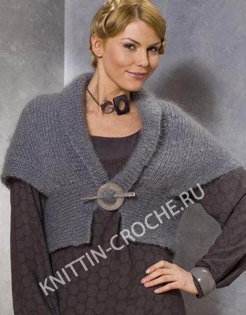 красивое вязаное болеро серого цвета