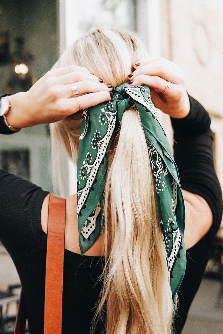 Silk scarf for hair #HexiSilk